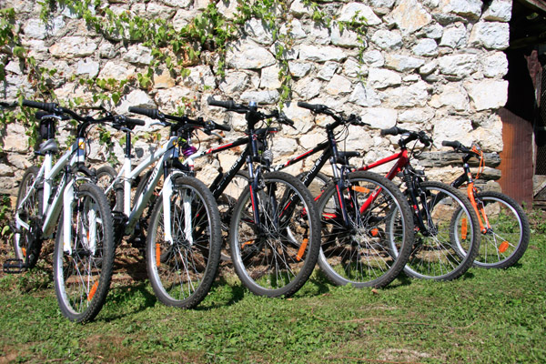 Mountain bikes to hire - the fun starts here!